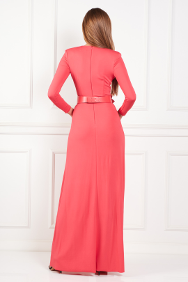 * Long Dress With Belt-2