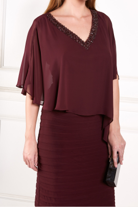 Burgundy Layered Dress-2