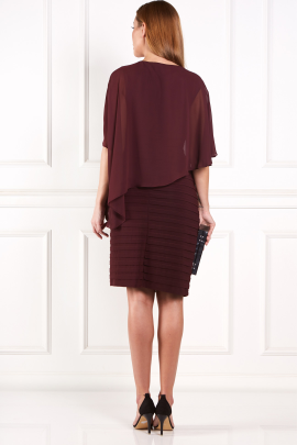 Burgundy Layered Dress-3