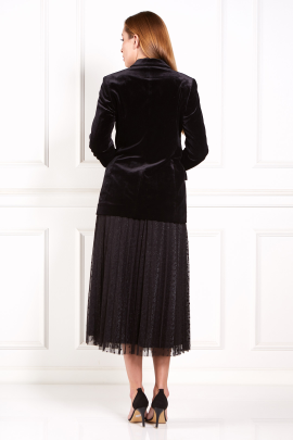 Velours Blazer And Tulle Skirt-3