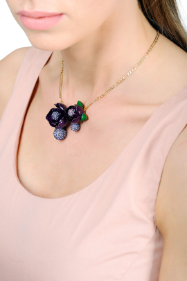 Magnolia Porpora Necklace-1