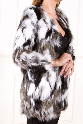 Black And White Fur Coat-1