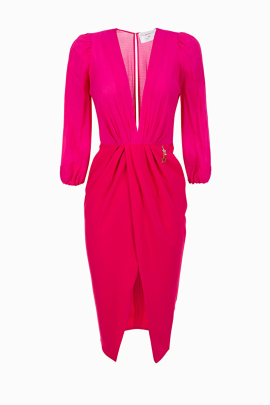 * Wraparound Fuchsia Dress / VILNIUS-0