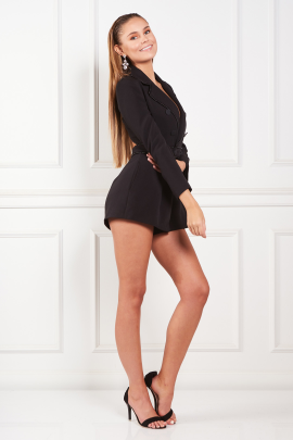 Black Evening Playsuit-3