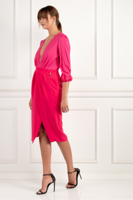 * Wraparound Fuchsia Dress / VILNIUS-3