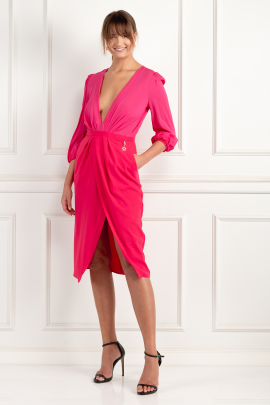 * Wraparound Fuchsia Dress / VILNIUS-2