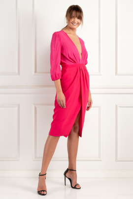 * Wraparound Fuchsia Dress / VILNIUS-1