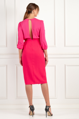 * Wraparound Fuchsia Dress / VILNIUS-4