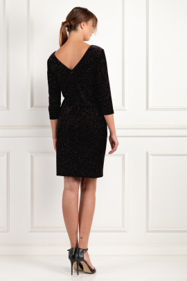 Black Velour Miriam Dress-2