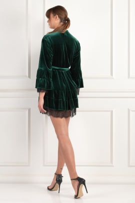 Green Velour Dress-2