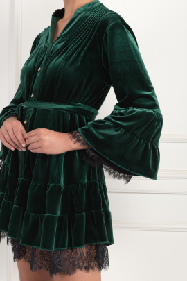 Green Velour Dress-3