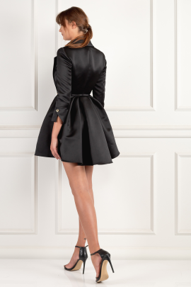 * Black Dress With Circle Skirt-2