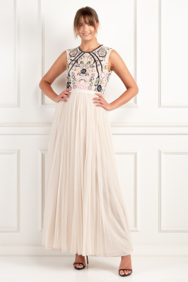 * Ivory Floral Gown -1
