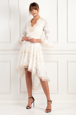 * Pearl White Ash Dress-2