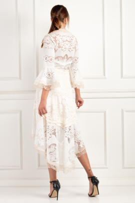 * Pearl White Ash Dress-4