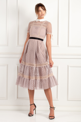 Crosshatch Tiered Dress-2