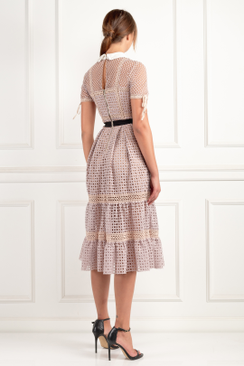 Crosshatch Tiered Dress-3