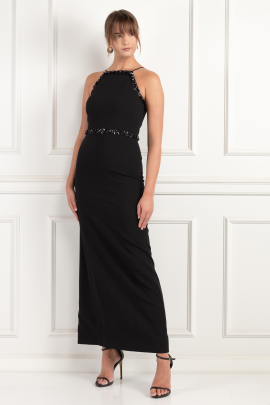 Embellished Crepe Gown -2