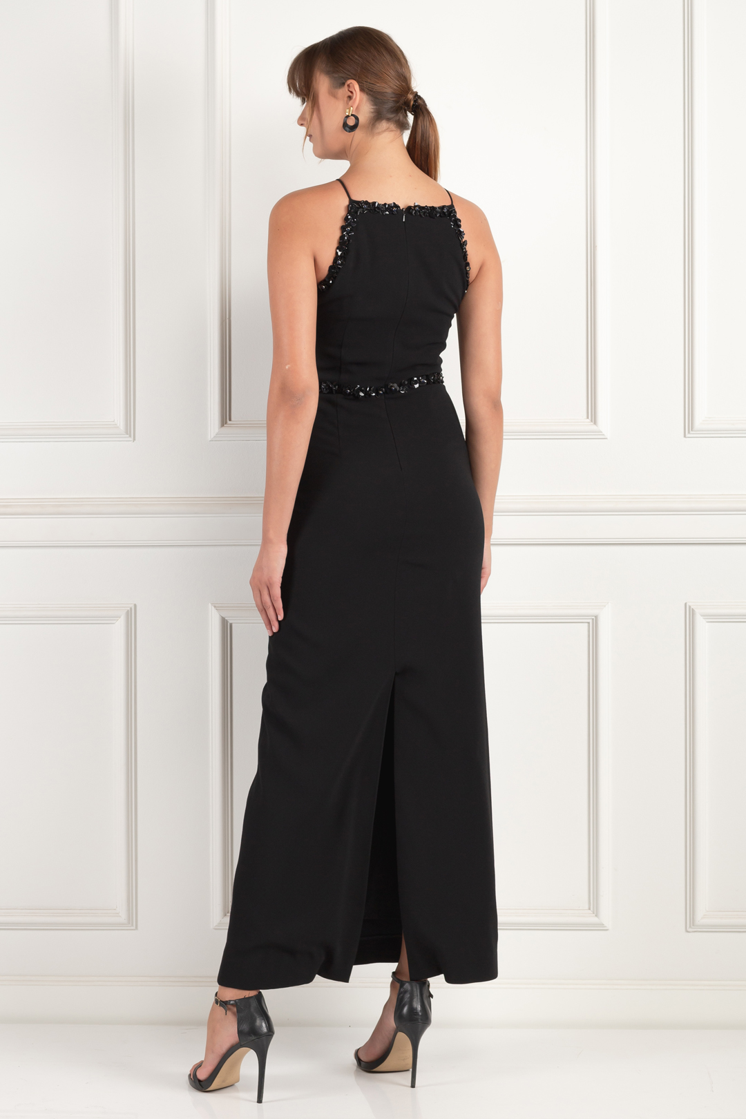 Embellished Crepe Gown