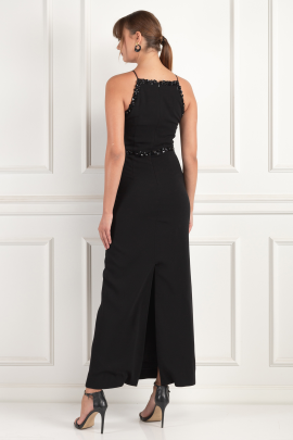 Embellished Crepe Gown -3