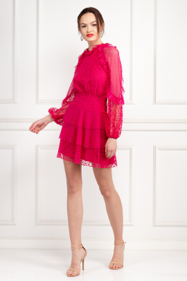 Fuscia Delight Mini Dress-0