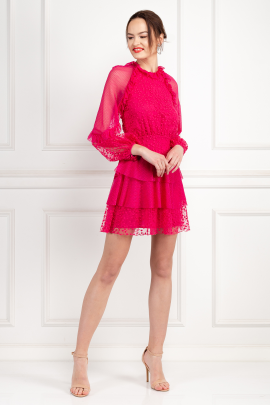 Fuscia Delight Mini Dress-1