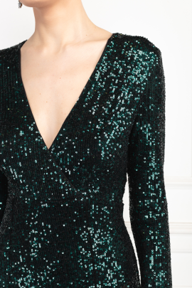 Fontaine Green Sequin Dress-4