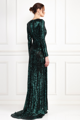 Fontaine Green Sequin Dress-3