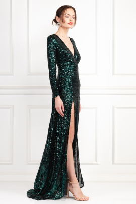 Fontaine Green Sequin Dress-0