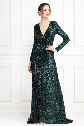 Fontaine Green Sequin Dress-2