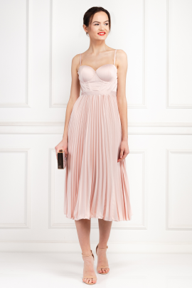 Milan Champagne Pink Dress-0