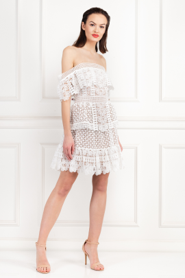 * Off-The-Shoulder Guipure Lace Dress-1