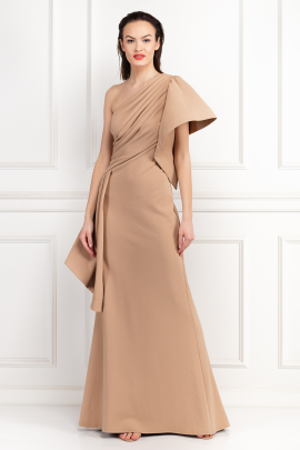* Aboah One-Shoulder Nude Gown -0