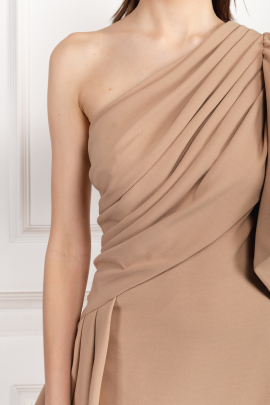 * Aboah One-Shoulder Nude Gown -3
