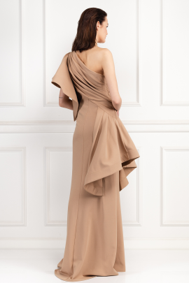 * Aboah One-Shoulder Nude Gown -2