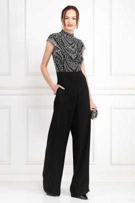 Kiri Black Embroidered Jumpsuit-1