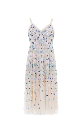 Wildflower Sequin Midi Dress-4