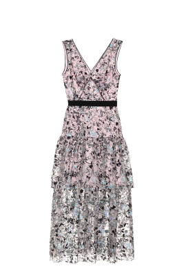 Blush Constellation Midi Dress-4
