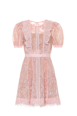 Pink Dress With Sequin Embroideries-4