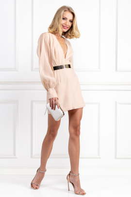 Nude Penelope Mini Dress-0
