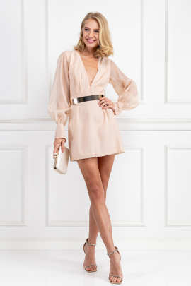 Nude Penelope Mini Dress-1