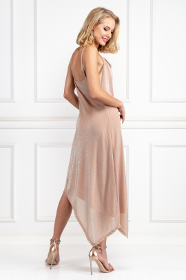 Glitter Nude Carrie Dress-2