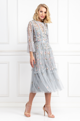 Sky Blue Wallflower Dress-0