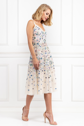 Wildflower Sequin Midi Dress-0