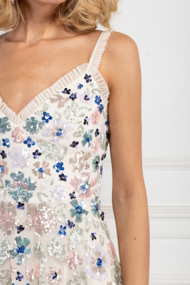 Wildflower Sequin Midi Dress-3
