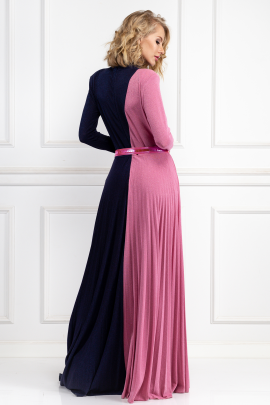 Two-Colour Long Dress-2