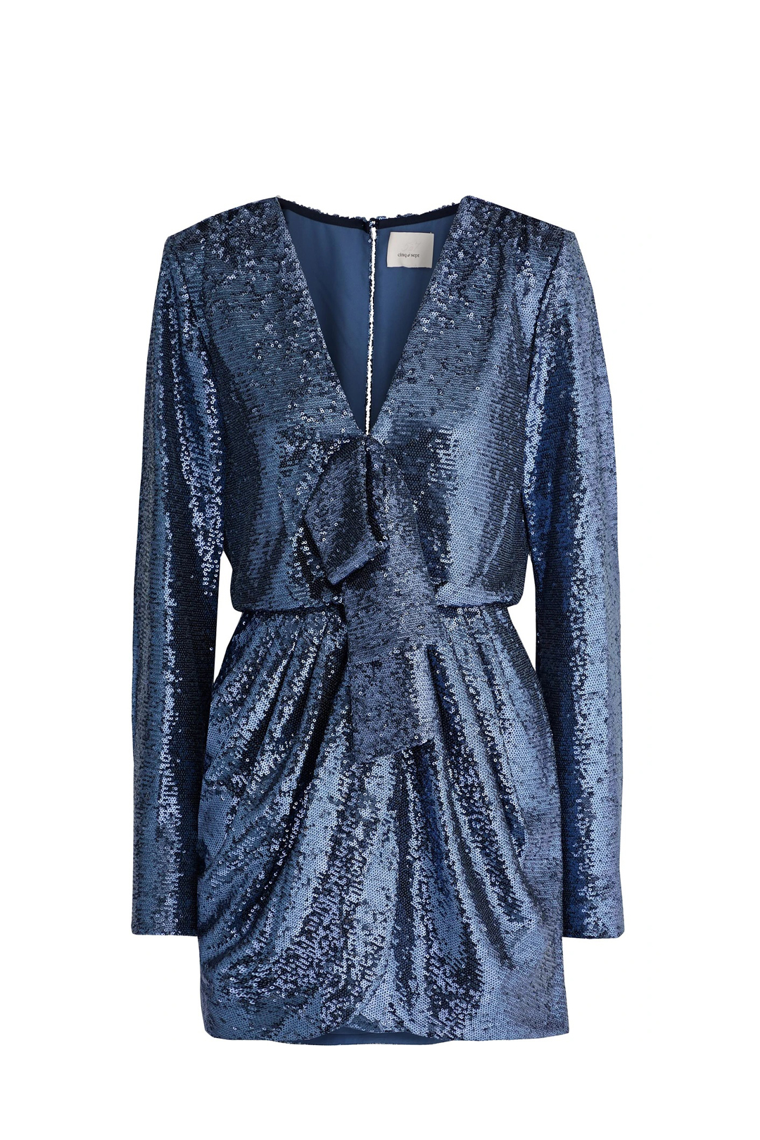 Skylar Wrap-effect Sequined Dress