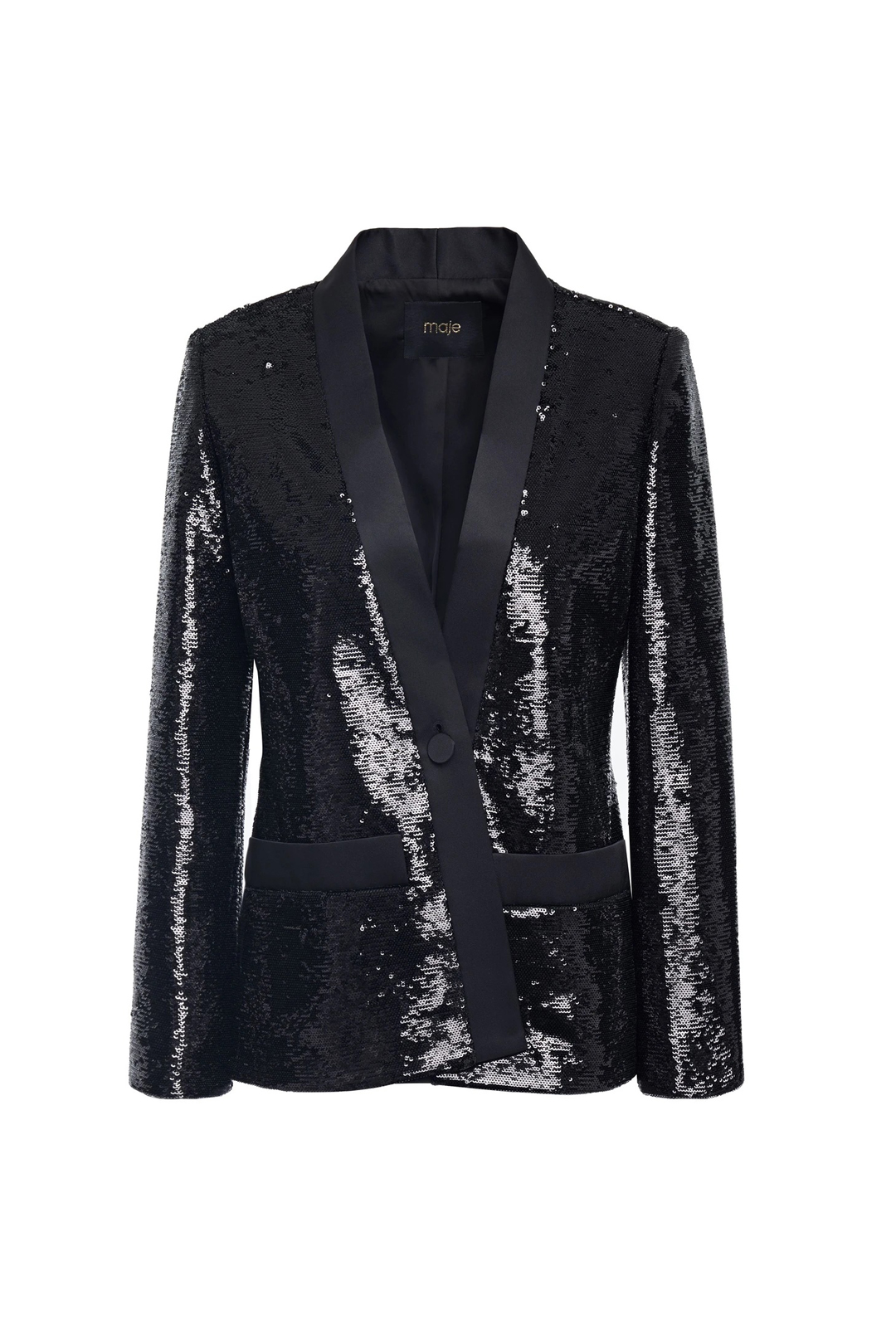 Sequined Satin-twill Blazer