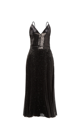 Black Sequin Strappy Dress-4