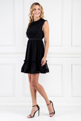 Black Mini Elfie Dress-1